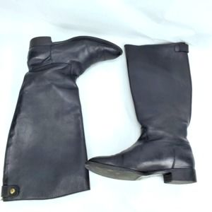 J.Crew Black Leather Field Riding Boots Size 9